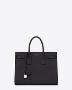 CLASSIC LARGE SAC DE JOUR BAG in Black Grained Leather