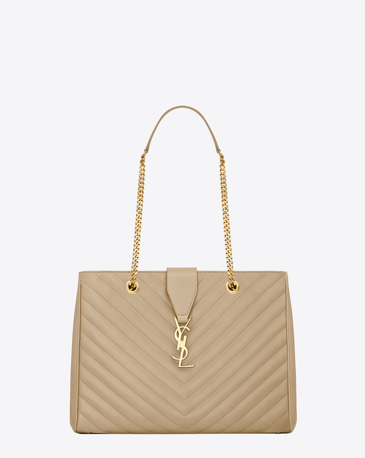 Saint Laurent CLASSIC MONOGRAM SAINT LAURENT SHOPPING BAG IN Dark ...