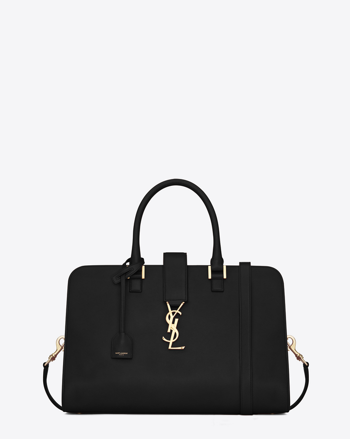 ysl replica handbag - Saint Laurent Medium Cabas Monogram Saint Laurent In Black Leather ...