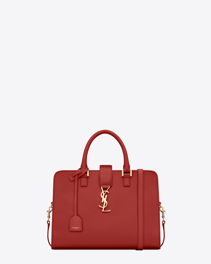 Saint Laurent Small Cabas Monogram Saint Laurent In Lipstick Red ...