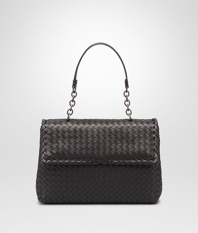 BOTTEGA VENETA NERO INTRECCIATO NAPPA OLIMPIA BAG Shoulder or hobo bag D fp