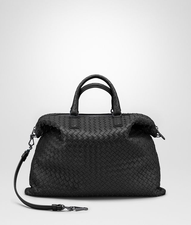 BOTTEGA VENETA MEDIUM CONVERTIBLE BAG IN NERO INTRECCIATO NAPPA Top Handle Bag D fp