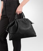 MEDIUM CONVERTIBLE BAG IN NERO INTRECCIATO NAPPA