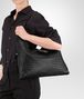 BOTTEGA VENETA MEDIUM CONVERTIBLE BAG IN NERO INTRECCIATO NAPPA Top Handle Bag D lp