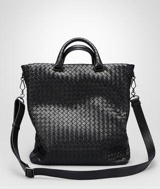 Nero Intrecciato Light Calf Tote Bag