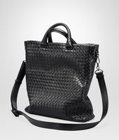 Nero Intrecciato Light Calf Tote Bag