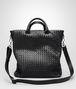 BOTTEGA VENETA SHOPPER NERA IN LIGHT CALF INTRECCIATO Borsa Shopping U fp