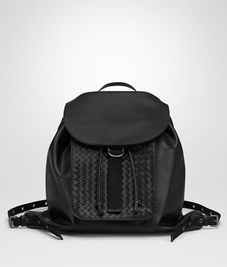 BACKPACK IN NERO INTRECCIATO CALF