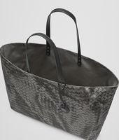 NEW LIGHT GREY INTRECCIOLUSION LARGE TOTE