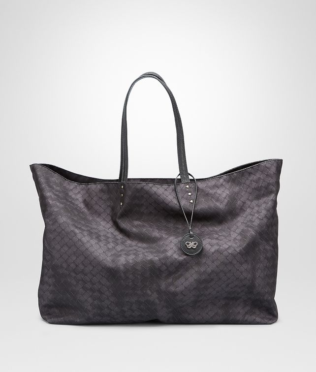 BOTTEGA VENETA New Dark Grey Intrecciolusion Large Tote Tote Bag D fp