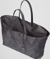 LARGE SHOPPER NEW DARK GREY IN INTRECCIOLUSION