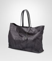 New Dark Grey Intrecciolusion Large Tote