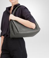 BORSA PARACHUTE IN INTRECCIATO NAPPA NEW LIGHT GREY