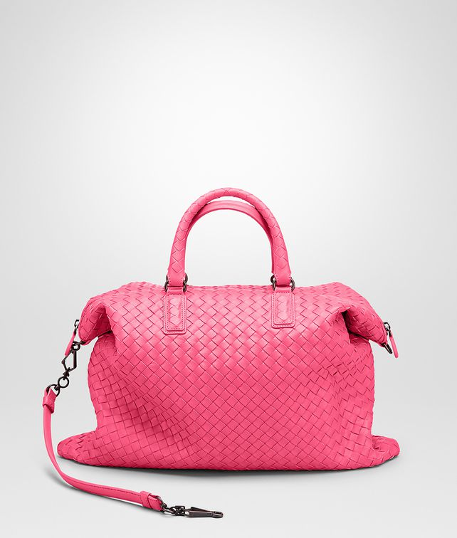BOTTEGA VENETA ROSA SHOCK INTRECCIATO NAPPA CONVERTIBLE BAG Top Handle Bag D fp
