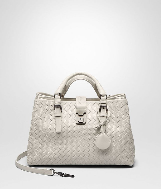 BOTTEGA VENETA Mist Intrecciato Light Calf Roma Bag Top Handle Bag D fp
