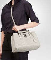 BORSA ROMA MIST IN LIGHT CALF INTRECCIATO