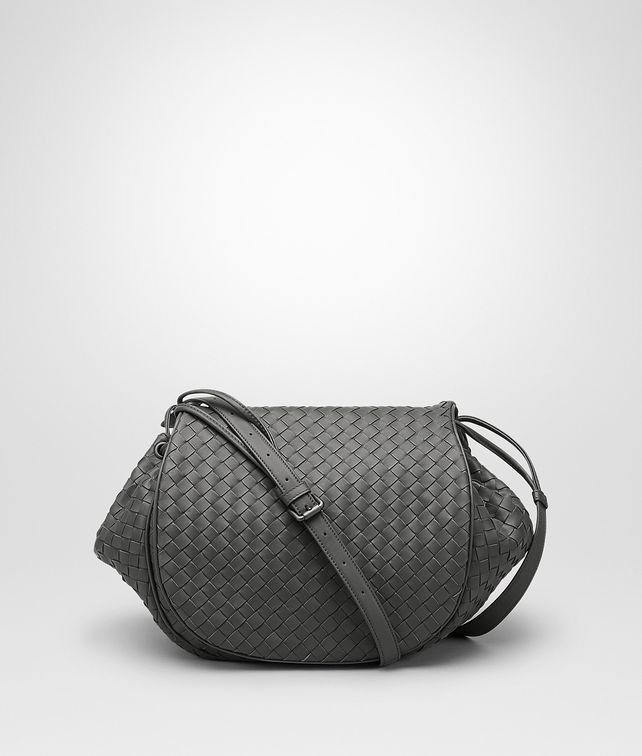 BOTTEGA VENETA BORSA A TRACOLLA IN INTRECCIATO NAPPA NEW LIGHT GREY Borsa a Tracolla D fp