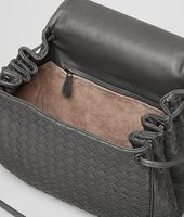 MESSENGER BAG IN NEW LIGHT GREY INTRECCIATO NAPPA