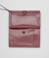 Aubergine Intrecciato Light Calf Continental Wallet