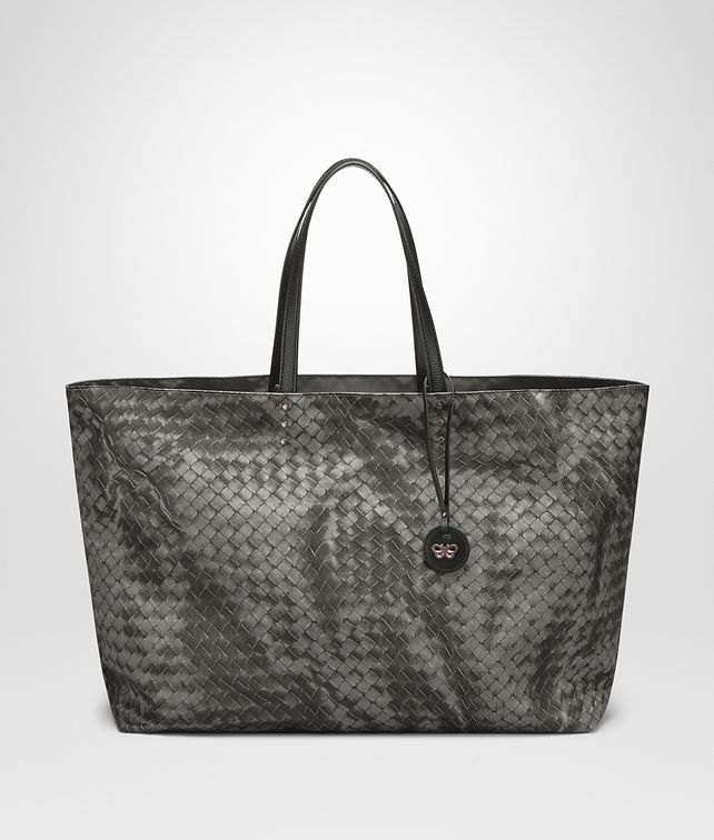 BOTTEGA VENETA MEDIUM TOTE BAG IN NEW LIGHT GREY INTRECCIOLUSION Tote Bag D fp