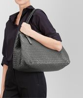 LARGE TOTE BAG IN NEW LIGHT GREY INTRECCIATO NAPPA