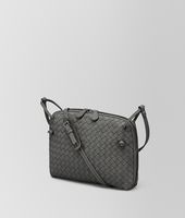 NEW LIGHT GREY INTRECCIATO NAPPA MESSENGER BAG