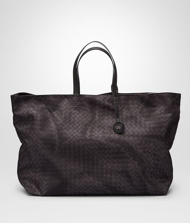 BOTTEGA VENETA MAXI SHOPPER NEW DARK GREY IN INTRECCIOLUSION Borsa Shopping D fp