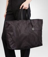 NEW DARK GREY  INTRECCIOLUSION   MAXI TOTE