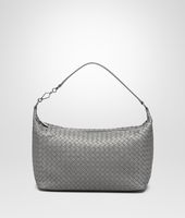 NEW LIGHT GREY INTRECCIATO NAPPA BAG
