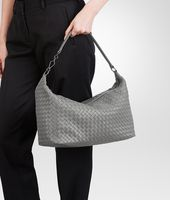BORSA NEW LIGHT GREY IN NAPPA INTRECCIATA