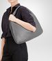 BOTTEGA VENETA New Light Grey Intrecciato Nappa Large Veneta Shoulder or hobo bag D ap