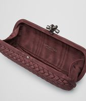 POCHETTE STRETCH KNOT IN INTRECCIO FAILLE MOIRE AUBERGINE