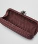 BOTTEGA VENETA STRETCH KNOT CLUTCH IN AUBERGINE INTRECCIO FAILLE MOIRE Clutch D dp