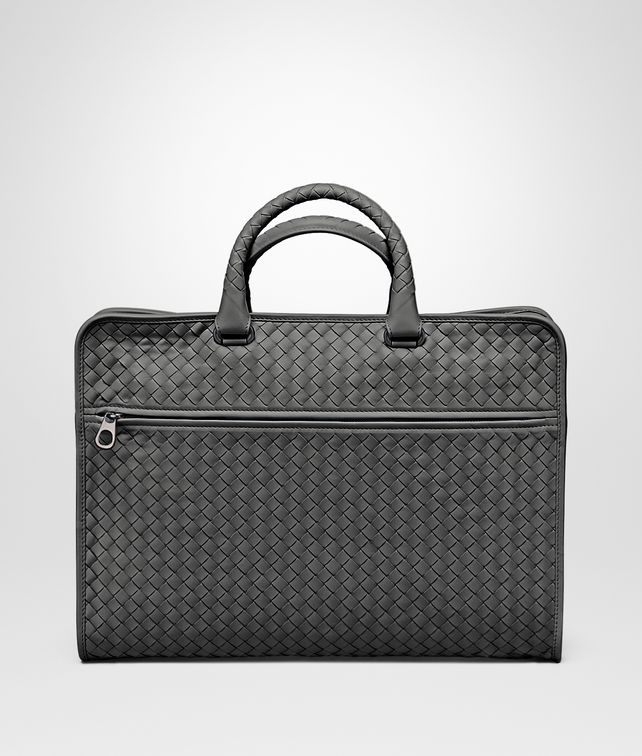 New Light Grey Intrecciato Light Calf Briefcase