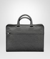 BRIEFCASE IN NEW LIGHT GREY INTRECCIATO CALF