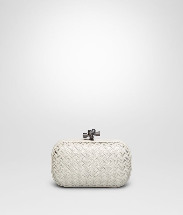 BOTTEGA VENETA MIST METAL INTRECCIO PLACCATO KNOT Clutch D fp