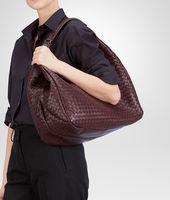 Aubergine Intrecciato Nappa Campana Bag