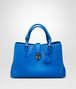 BOTTEGA VENETA SIGNAL BLUE Intrecciato Light Calf ROMA BAG Top Handle Bag D fp