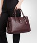 BOTTEGA VENETA AUBERGINE Intrecciato Light Calf ROMA BAG Top Handle Bag D ap