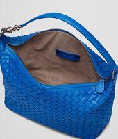 SIGNAL BLUE INTRECCIATO NAPPA BAG