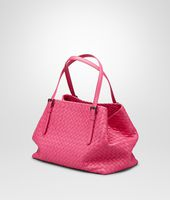 SHOPPER ROSA SHOCK IN NAPPA INTRECCIATA