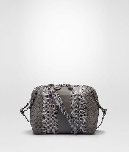 New Light Grey Intrecciato Nappa Ayers Messenger Bag