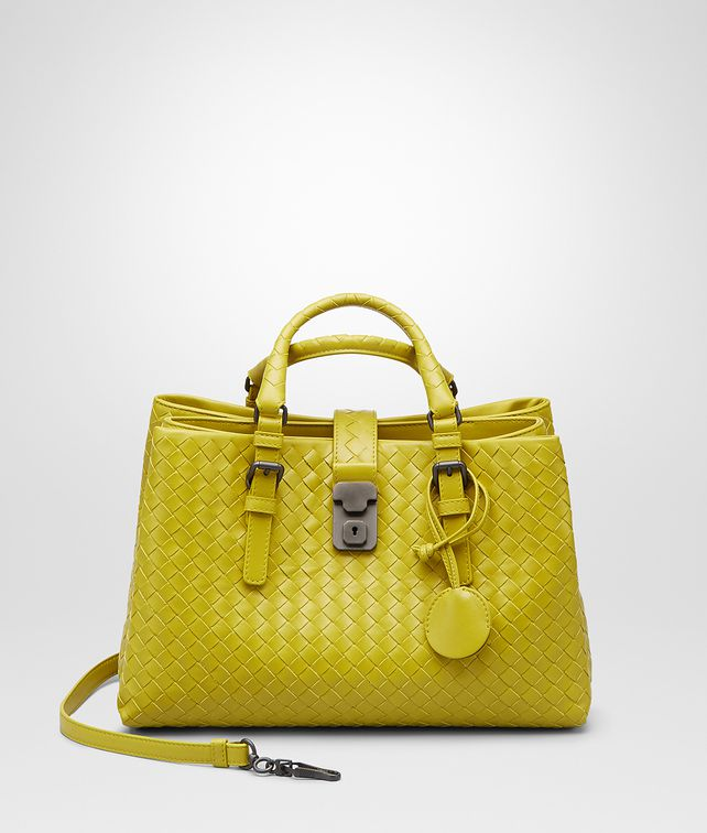 NEW CHARTREUSE Intrecciato Light Calf ROMA BAG