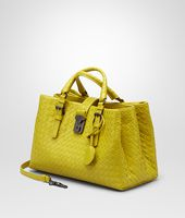 BORSA ROMA NEW CHARTREUSE IN LIGHT CALF INTRECCIATO