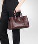 BOTTEGA VENETA Aubergine Intrecciato Light Calf Roma Bag Top Handle Bag D ap
