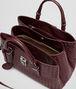BOTTEGA VENETA Aubergine Intrecciato Light Calf Roma Bag Top Handle Bag D dp