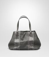 MEDIUM TOTE BAG IN NEW LIGHT GREY NAPPA AND AYERS