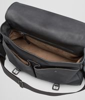 New Dark Grey Pony Waxed Leather Gardena Bag