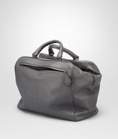 Medium Grey Madras Heritage Pony Detailed Brera Bag