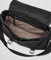 Nero Buffalo Leather Metal Gardena Bag